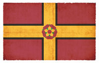 Grunge flag of Northamptonshire (Great Britain)
