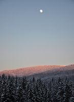 Mondaufgang in Winterlandschaft - Moonrise in winter scenery