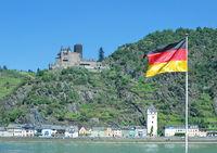 Sankt Goarshausen and Katz Castle,Germany