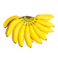 Butch of small bananas.