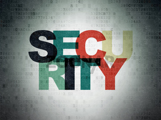 Safety concept: Security on Digital Paper background
