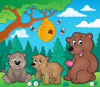 Bears in nature theme image 3 - picture illustration.