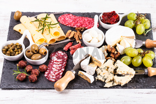 Cheese and salami plate