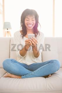 Pretty woman using her phone