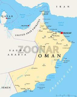 Oman politische Landkarte