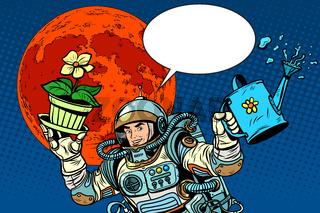 colonization Mars astronaut plants irrigation