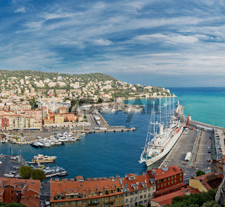 Panoramic view of Nice, Cote d#39;Azur, France