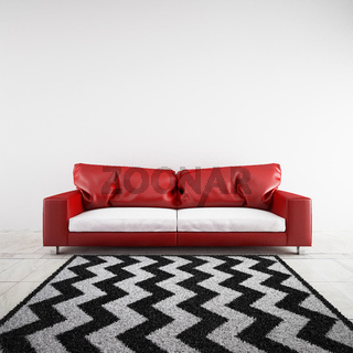 3D rendered sofa in a room