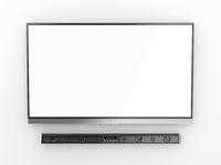 Flat screen tv and soundbar