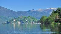 Lake Orta with Village of Orta San Giulio,Italy