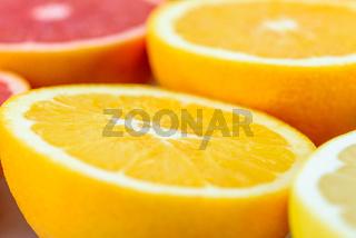 Red Oranges, Oranges And Grapefruit Citrus Fruit Slices