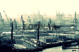 Hafen Hamburg mit Bohm und Voss