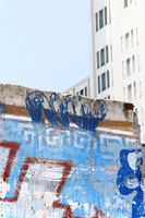 Berlin Wall ruins in Potsdam Square