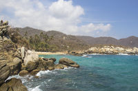 The beach Cabo San Juan at Parque Tayrona (Colombia)