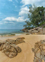 Rocky, Tropical Beach Paradise in Phuket, Thailand