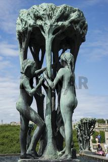 Brunnen im Vigelandpark in Oslo