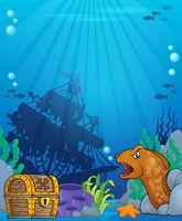 Ocean underwater theme background 6 - picture illustration.