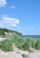 Coastal Landscape and Kap Nordperd in Goehren,Ruegen island,baltic Sea,Germany