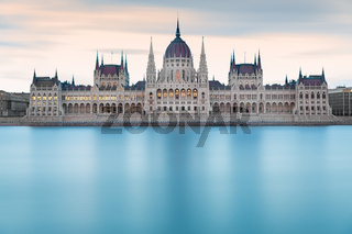 Hungarian Parliament Building before dawn, Budapest