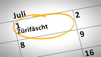 Zurich Festival first of July in swiss language