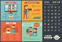 Media flat design Infographic Template