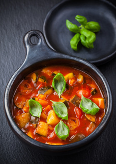 Ratatouille - vegetable stew with basil