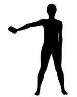 Silhouette einer Frau beim Training - Silhouette of woman doing exercises