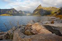 Sunrise over Reinefjord
