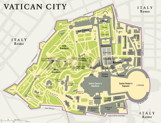 Vatikan Stadt Landkarte