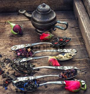 Varieties of dry tea