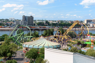 La Ronde Amusement Park view from Jacques Cartier Bridge, Montreal