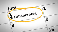 world farmers day first of june in german language