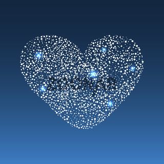 Star diamond heart