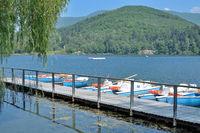 Lake Montiggler near Eppan or Appiano,South Tirol,Italy
