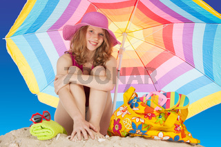 Attractive girl at the beach