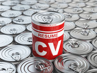 Cv curriculum vitae can.  Candidate job position. Conceptual image of resume or recruitment.