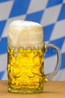 Bierkrug auf dem Oktoberfest in München