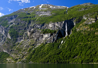 Wasserfall am Geiringerfjord, Norwegen