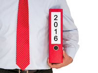 2016 Plan for New Year - Manager with binder