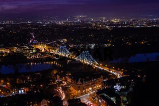 Blaues Wunder in Dresden - Loschwitzer Brücke