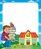 Frame with school boy 3 - picture illustration.