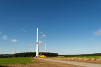Wind turbines under construction