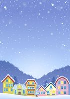 Winter theme with Christmas town image 6 - picture illustration.