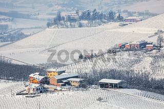 Winter countryside view in Italy.