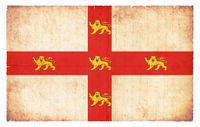 Grunge flag of York (Great Britain)