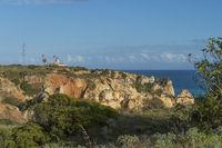 Rock formations on the coast at Ponta da Piedade