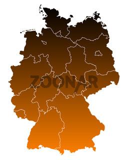 Karte von Deutschland - Map of Germany