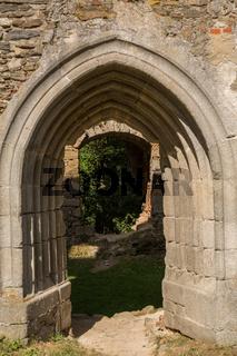 Gotischer Torbogen der Burg Schaunberg - Austria