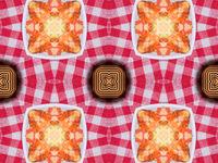 Red seamless mandala design