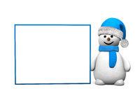 Snowman Blue Board